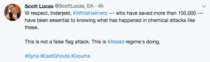 Scott Lucas blames Assad